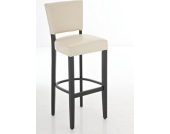 gepolsterter Barhocker ETHEL aus Holz mit Kunstlederbezug, wählen Sie aus bis zu 13 Farbkombinationen, Sitzhöhe 81 cm