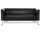 Loungesofa CURACAO Kunstleder 3-Sitzer schwarz hjh OFFICE