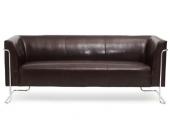 Loungesofa CURACAO Kunstleder 3-Sitzer braun hjh OFFICE