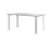 Glastisch Palma - Weiß lackiertes Glas/Lack Weiß - 125 x 90 cm, Niehoff