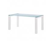 Glastisch Palma - Satiniertes Glas - Weiß - 125 x 90 cm, Niehoff