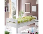 Futonbett in Weiß Einzelbett