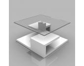 Wohnzimmertisch mit Glasplatte mit Glasplatte