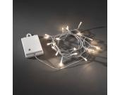 EEK A+, LED Lichterkette batteriebetrieben für Außen - 80 Weiße Dioden - mit 6h und 9h Timer, Konstsmide