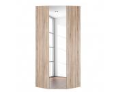 Eckschrank Melva - Eiche Sonoma Dekor/Spiegel - BxH: 92,3 x 236 cm, Express Möbel