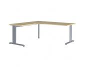 Eck-Computertisch in Ahornfarben 180 cm breit