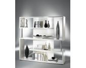 Raumteiler in Hochglanz Weiß mit Fächern
