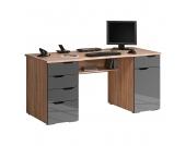 Computertisch Scarlett - Eiche Sonoma/Hochglanz Grau, Office Collection