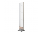 Standspiegel Sessnam - Braun/Silber - Mit Garderobehaken, Salmerno Design