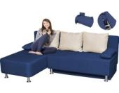 VCM Ecksofa ´´Magota Blau´´ / Couch mit Schlaffunktion