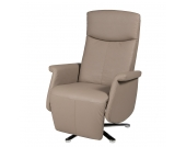 Relaxsessel Nonah - Kunstleder Taupe, Duo Collection