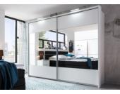 Jumbo Möbel Schwebetürenschrank PENTA in Weiß mit Spiegel