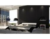 Cats Collection Design Lederbett 160 x 200cm schwarz-weiß