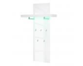 EEK A+, Wandgarderobe Emblaze (inkl. Beleuchtung) - Hochglanz Weiß, loftscape