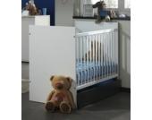 Vipack Babybett 60x120 cm Josh Weiß/Anthrazit