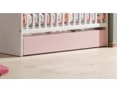 Vipack Bettschublade 60x115 Valentine für Babybett Weiß/Rosa
