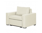 Schlafsessel Latina - Webstoff - Creme, roomscape