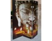 Raumteiler 3tlg Buddha II 2-seitig bedruckt