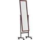 klassischer Holz-Standspiegel YOLANDA mit Rollen, 150 x 45 cm, Farbwahl