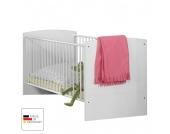 Babybett Gina - Alpinweiß/Hochglanz Brombeer - mit Bettseiten, Wimex