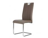 Freischwinger Stuhl in Braun modern