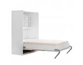 Schrankbett KiYDOO smart - 160 x 205 cm - Bonellfederkernmatratze - Weiß / Eiche Sonoma Dekor, KIYDOO