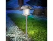Solarleuchte Swing aus Edelstahl m. warmweißem LED