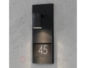 Schöne Hausnummernleuchte Modena 7655, schwarz