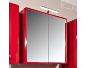 Badezimmer Spiegelschrank in Rot Hochglanz modern
