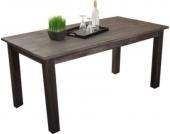 moebel direkt online Massivholztisch 140x80 cm _ Esstisch aus massiven Akazienholz im trendigen used-look braun