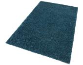 my home Hochflor-Teppich »Finn«, blau, 70x140 cm