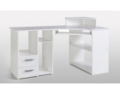 G + K Möbelvertriebs Eckschreibtisch Vennbach, Weiß
