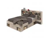 Funktionsbett Chicago - 140 x 200cm - 3 Bettkästen - Eiche Sonoma Dekor, Kids Club Collection