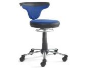 Kinderschreibtischstuhl / Kinderstuhl / Drehhocker TORRO SIT Stoff blau / schwarz