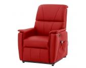 Massagesessel Clifford (mit Aufstehhilfe) - Echtleder - Rot, Nuovoform