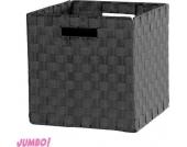 Jumbo Möbel Faltbox Alfa 1 Nylon schwarz, 32 x 32 cm