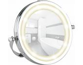 Wenko LED Kosmetikspiegel Brolo, Handspiegel, 3-fach Vergrößerung