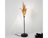 Exklusive Tischleuchte AIRONE mit goldener Blüte