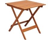 Nordische Gartenmöbel Massivholz Balkontisch LOTTA Tisch Gartentisch Klapptisch Braun
