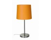 EEK A++, Tischleuchte Barinas - Mattnickel/ Schirm orange - 45cm, Busch Leuchten