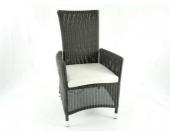 Stuhl Cayman aus Polyrattan inkl. Polster, dunkelbraun