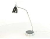 Tischleuchte Tischlampe Halogen in Chrom/Schwarz Maße Höhe ca. 46 cm