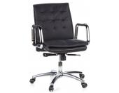 Bürostuhl / Chefsessel VILLA 10 Nappaleder schwarz hjh OFFICE