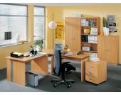 Büro Möbelset in Buchefarben (5-teilig)