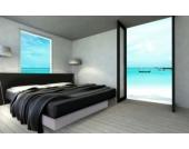 Ocean Mono Wasserbett, 160 x 200 cm, weiß, F3