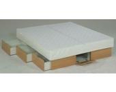 Ocean Duo Wasserbett Deluxe mit Schubladen, 200 x 200 cm, buchefarben, F5