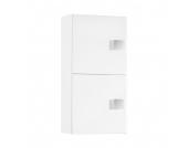 Hängeschrank Genf - Weiß glanz/Weiß - 1-türig & 2 Regalfächer, Schildmeyer